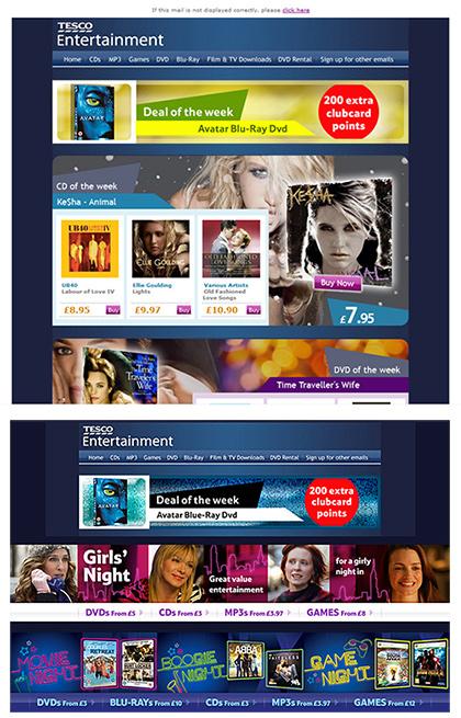 Tesco Entertainment - Banners