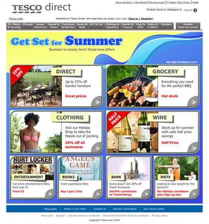 Tesco direct - Summer redesign