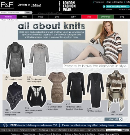 Clothing at Tesco - Trend page - Knitwear