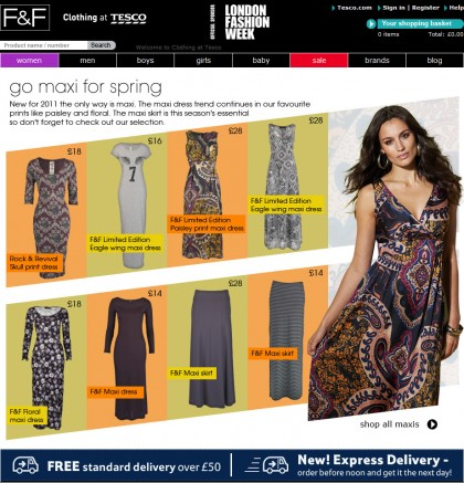 Clothing at Tesco - Trend page - Maxi skirts
