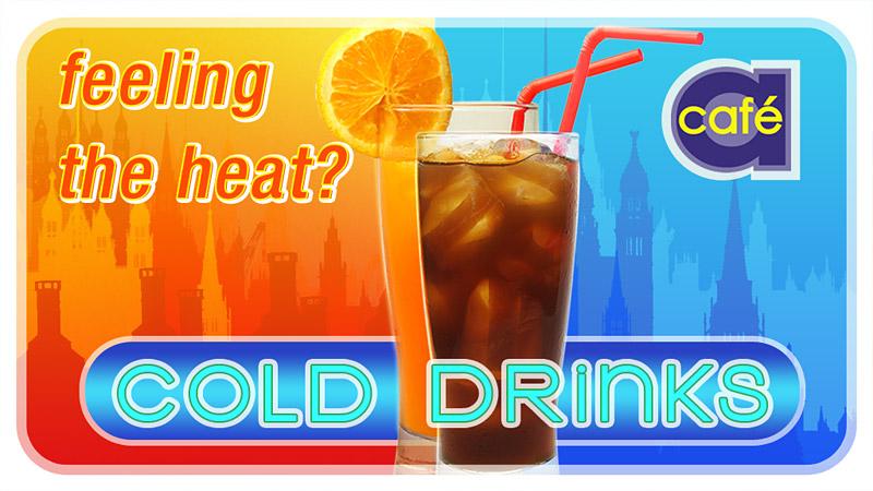 Cafe A – Digital signage – Cold drinks 3