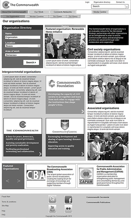 The Commonwealth - Our organisations