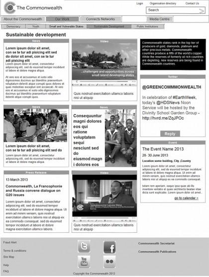 The Commonwealth - Sustainable development