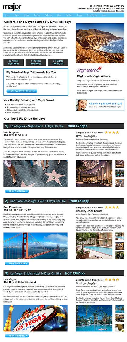Major Travel - Fly Drive Holidays