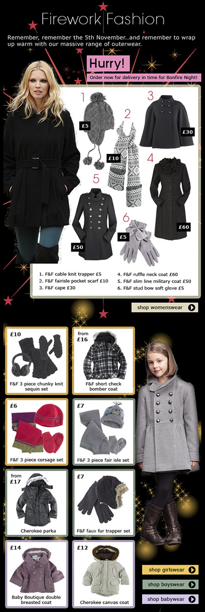 Clothing at Tesco – Email – Week 35 Family