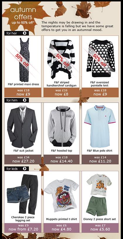Clothing at Tesco - Email - Week 35
