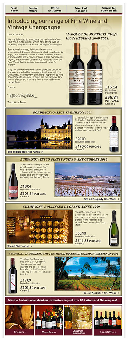Tesco Wine by the Case - Fine Wines - Email
